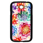 Colorful Succulents Samsung Galaxy Grand DUOS I9082 Case (Black) Front