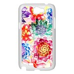 Colorful Succulents Samsung Galaxy Note 2 Case (White) Front