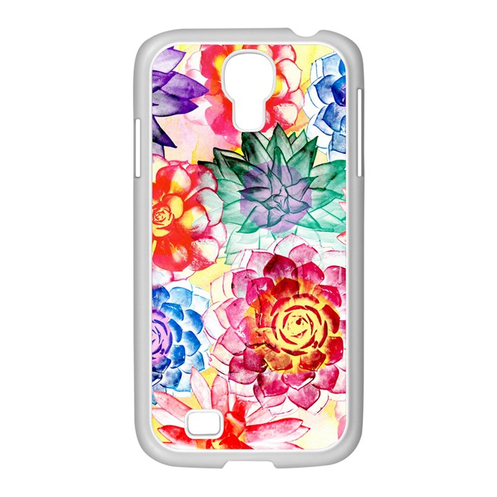Colorful Succulents Samsung GALAXY S4 I9500/ I9505 Case (White)