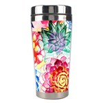 Colorful Succulents Stainless Steel Travel Tumblers Center