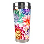 Colorful Succulents Stainless Steel Travel Tumblers Right