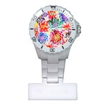 Colorful Succulents Plastic Nurses Watch Front