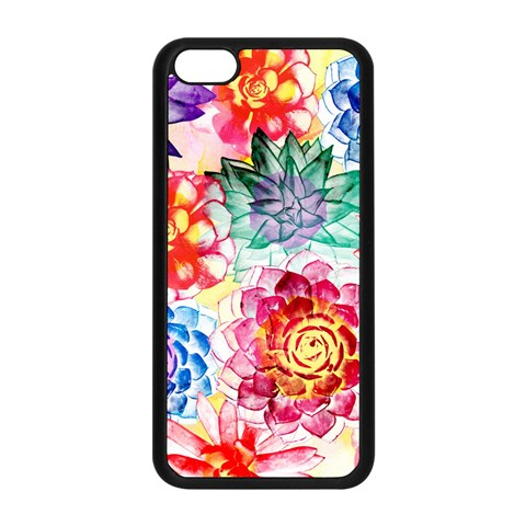 Colorful Succulents Apple iPhone 5C Seamless Case (Black)