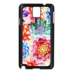 Colorful Succulents Samsung Galaxy Note 3 N9005 Case (Black) Front