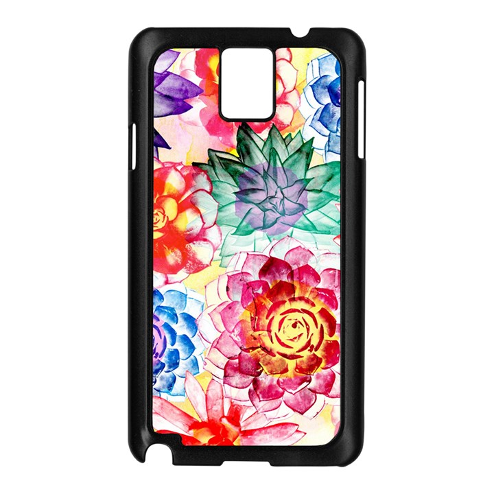 Colorful Succulents Samsung Galaxy Note 3 N9005 Case (Black)