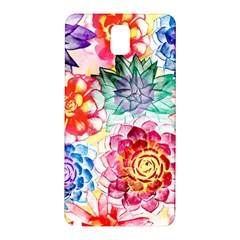 Colorful Succulents Samsung Galaxy Note 3 N9005 Hardshell Back Case