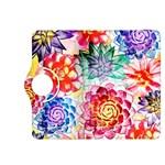 Colorful Succulents Kindle Fire HDX 8.9  Flip 360 Case Front