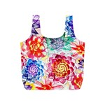 Colorful Succulents Full Print Recycle Bags (S)  Back