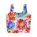 Colorful Succulents Full Print Recycle Bags (M)  Back