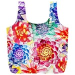 Colorful Succulents Full Print Recycle Bags (L)  Back