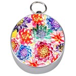 Colorful Succulents Silver Compasses Front