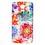 Colorful Succulents Samsung Galaxy S5 Back Case (White) Front