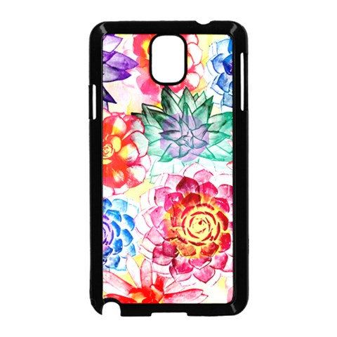 Colorful Succulents Samsung Galaxy Note 3 Neo Hardshell Case (Black)