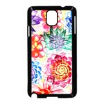 Colorful Succulents Samsung Galaxy Note 3 Neo Hardshell Case (Black) Front