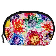 Colorful Succulents Accessory Pouches (Large)