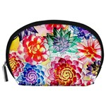 Colorful Succulents Accessory Pouches (Large)  Front