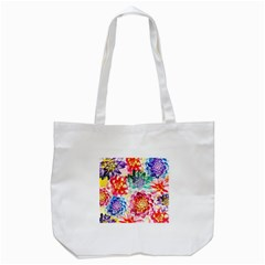 Colorful Succulents Tote Bag (white)