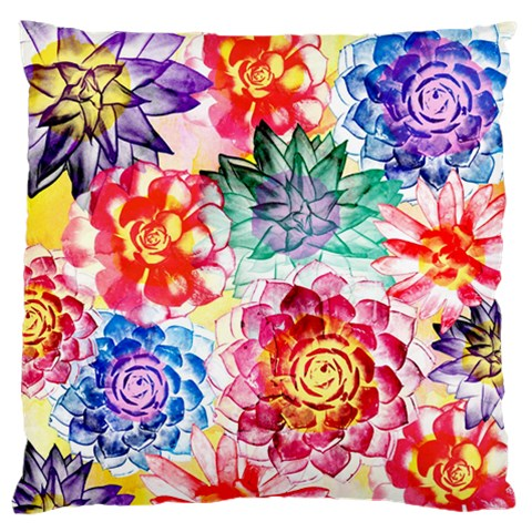 Colorful Succulents Standard Flano Cushion Case (One Side)