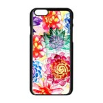 Colorful Succulents Apple iPhone 6/6S Black Enamel Case Front
