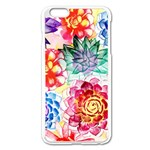 Colorful Succulents Apple iPhone 6 Plus/6S Plus Enamel White Case Front