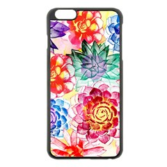 Colorful Succulents Apple iPhone 6 Plus/6S Plus Black Enamel Case