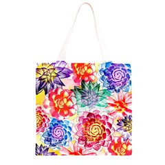 Colorful Succulents Grocery Light Tote Bag