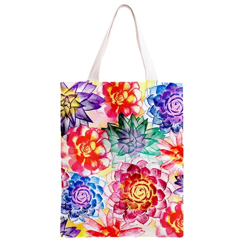 Colorful Succulents Classic Light Tote Bag