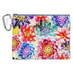 Colorful Succulents Canvas Cosmetic Bag (XXL) Front