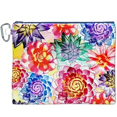 Colorful Succulents Canvas Cosmetic Bag (XXXL)