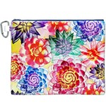 Colorful Succulents Canvas Cosmetic Bag (XXXL) Front