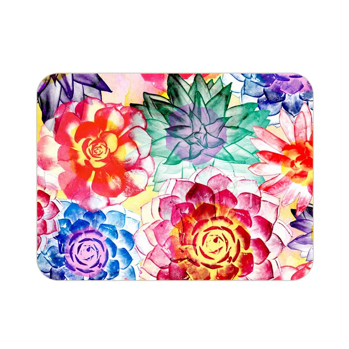 Colorful Succulents Double Sided Flano Blanket (Mini)