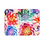 Colorful Succulents Double Sided Flano Blanket (Mini)  35 x27 Blanket Back