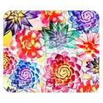 Colorful Succulents Double Sided Flano Blanket (Small)  50 x40 Blanket Front