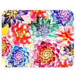 Colorful Succulents Double Sided Flano Blanket (Medium)  60 x50 Blanket Front