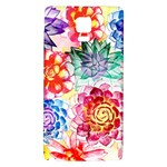 Colorful Succulents Galaxy Note 4 Back Case Front