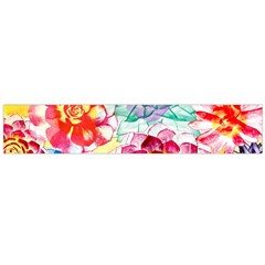 Colorful Succulents Flano Scarf (large)