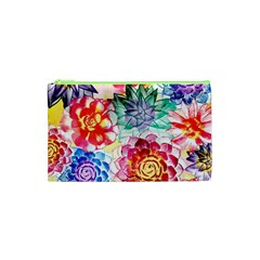 Colorful Succulents Cosmetic Bag (XS)