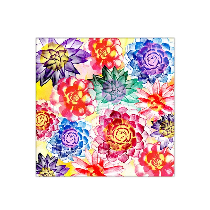 Colorful Succulents Satin Bandana Scarf