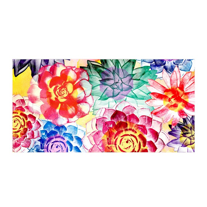 Colorful Succulents Satin Wrap