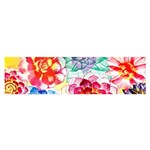 Colorful Succulents Satin Scarf (Oblong) Front