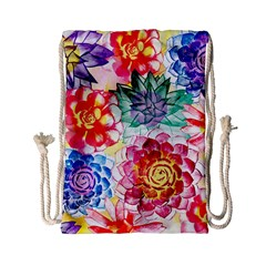 Colorful Succulents Drawstring Bag (small)