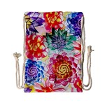Colorful Succulents Drawstring Bag (Small) Front