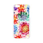 Colorful Succulents Apple Seamless iPhone 6/6S Case (Transparent) Front