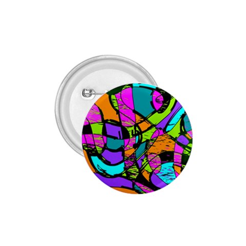 Abstract Sketch Art Squiggly Loops Multicolored 1.75  Buttons