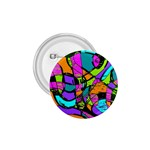 Abstract Sketch Art Squiggly Loops Multicolored 1.75  Buttons Front