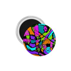 Abstract Sketch Art Squiggly Loops Multicolored 1.75  Magnets