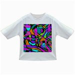 Abstract Sketch Art Squiggly Loops Multicolored Infant/Toddler T-Shirts Front