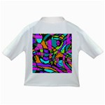 Abstract Sketch Art Squiggly Loops Multicolored Infant/Toddler T-Shirts Back
