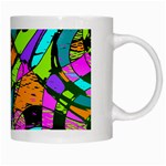 Abstract Sketch Art Squiggly Loops Multicolored White Mugs Right