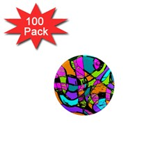 Abstract Sketch Art Squiggly Loops Multicolored 1  Mini Magnets (100 pack)